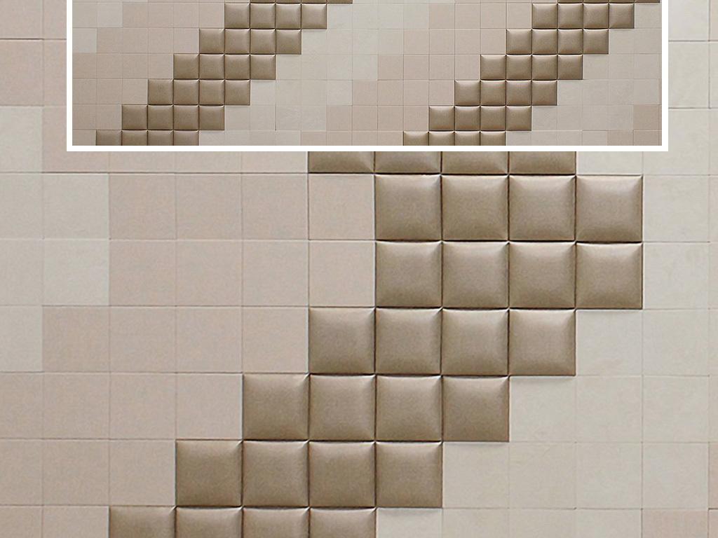 3d立体几何正方形马赛克电视背景墙