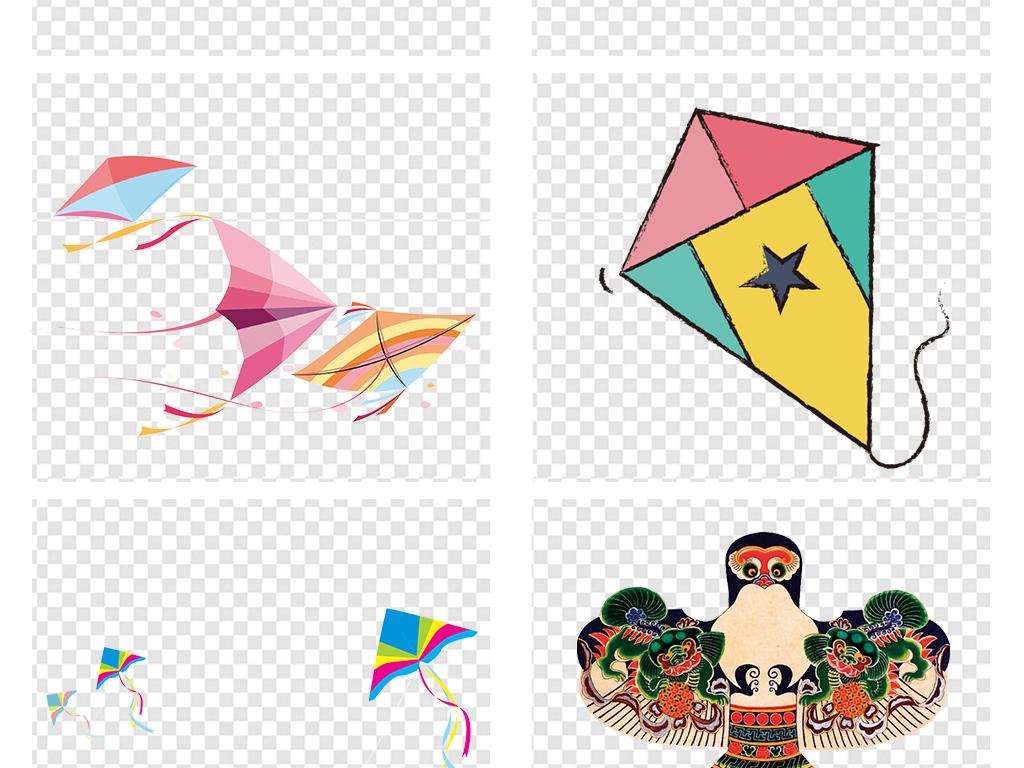 卡通风筝春季春游踏青小孩放风筝png素材图片 模板下载 15.79MB 其图片