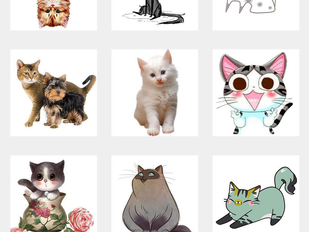 卡通猫可爱小猫咪设计素材png海报