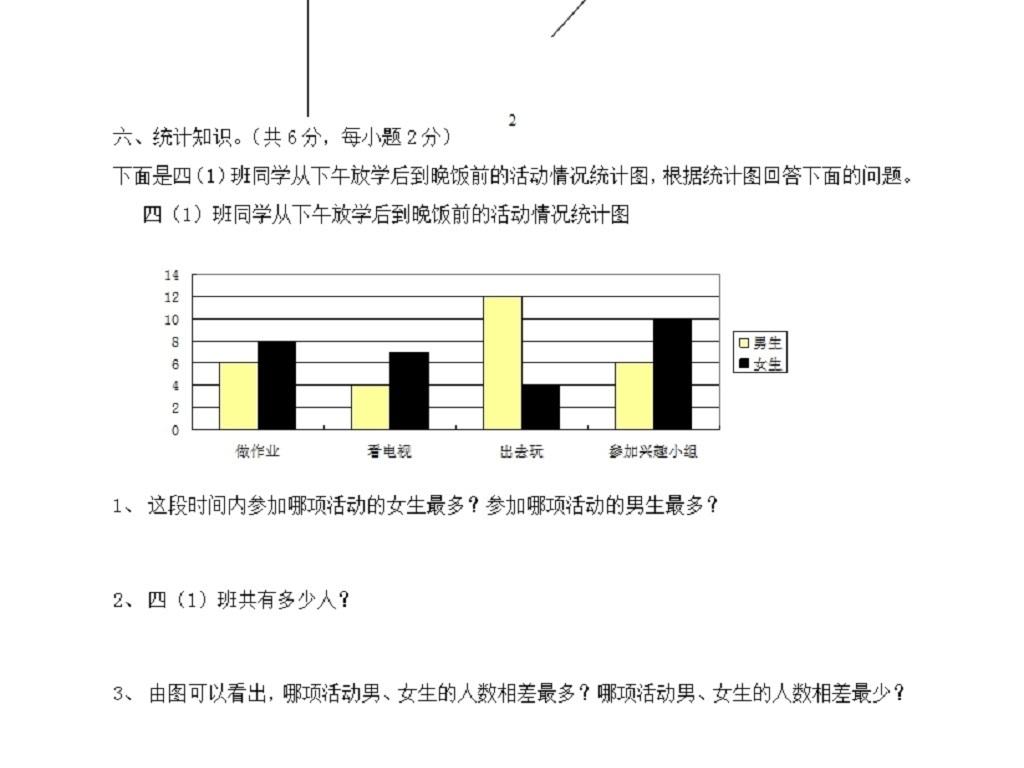 人教版四年级上册_人教版四年级上册数学期末试卷6