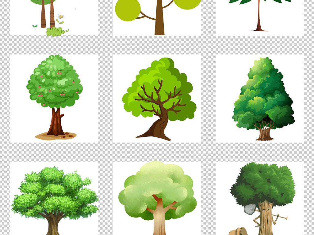 卡通树图片卡通树背景卡通树素材手绘树简约