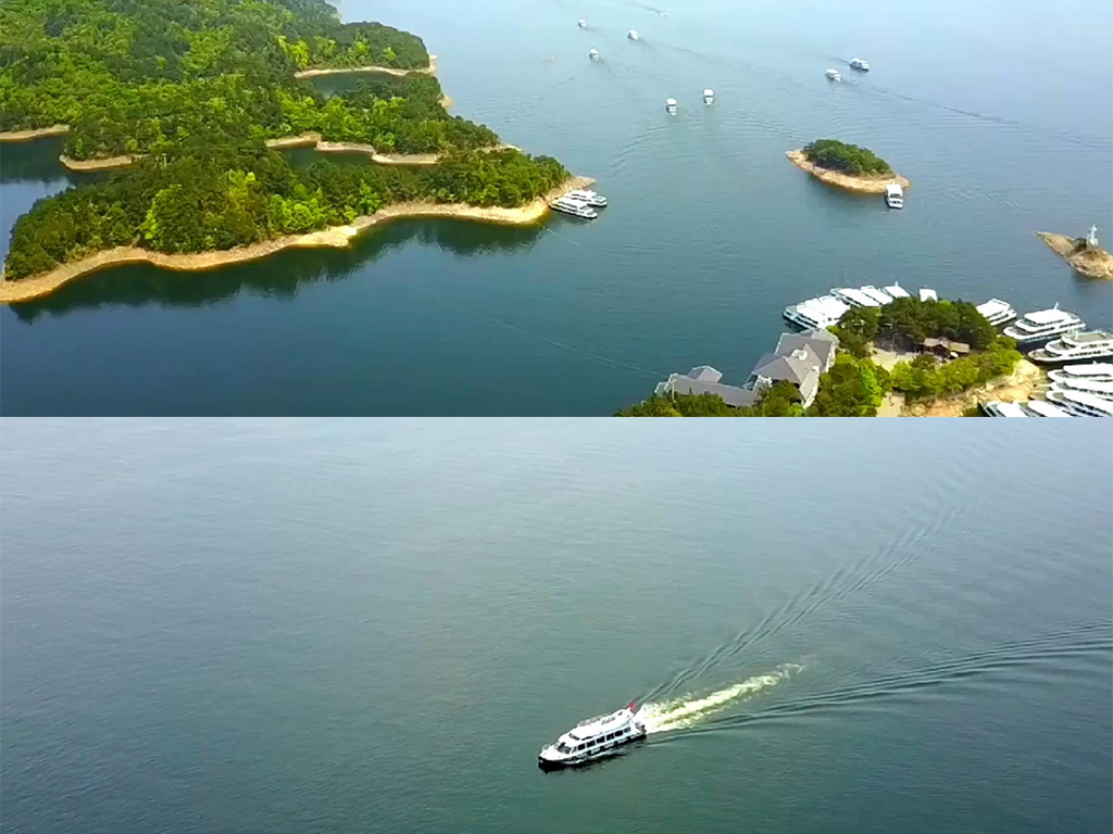 航拍杭州千岛湖