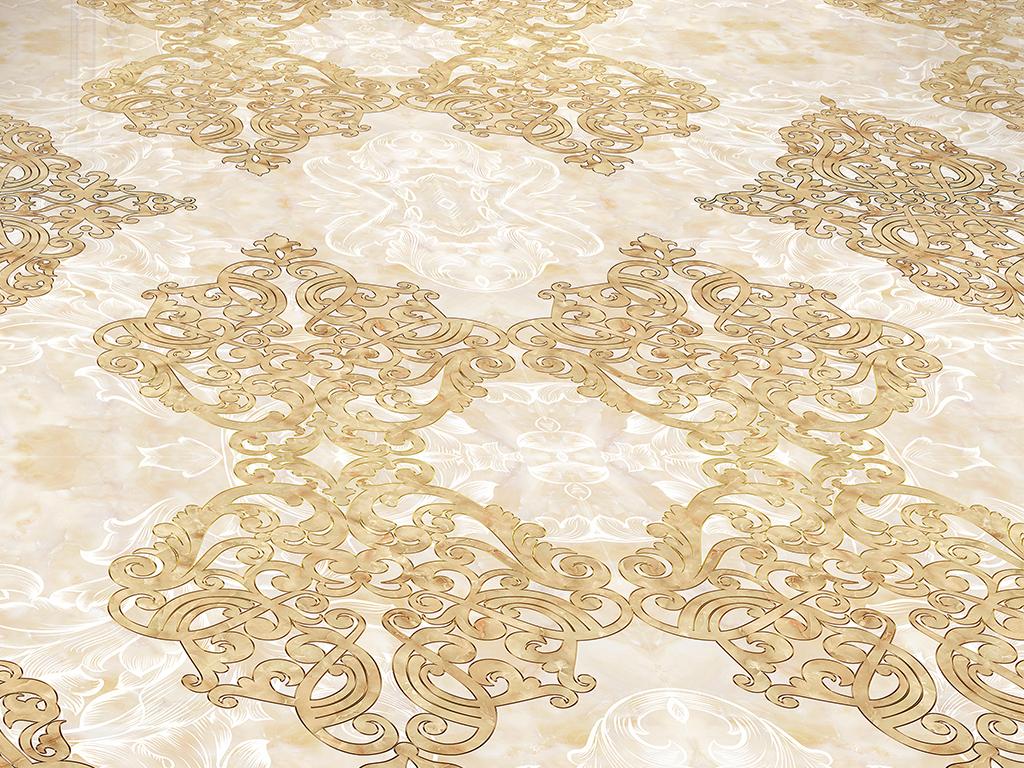 欧式花纹大理石拼花瓷砖地砖地板砖图片设计素材 高清psd模板下载