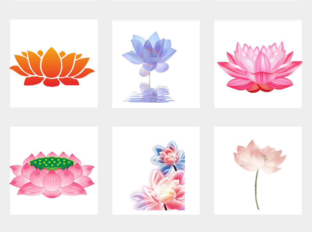 设计元素 自然素材 花卉 > 中国风莲花水墨荷花手绘植物花朵海报背景