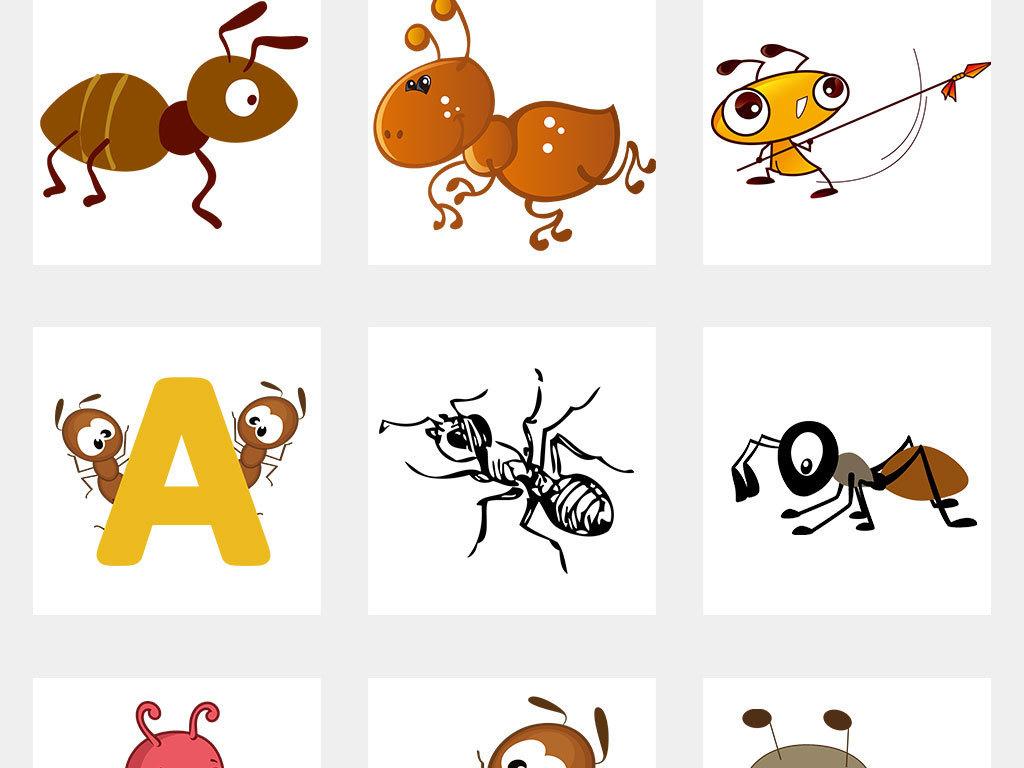 卡通蚂蚁动物图片海报png素材