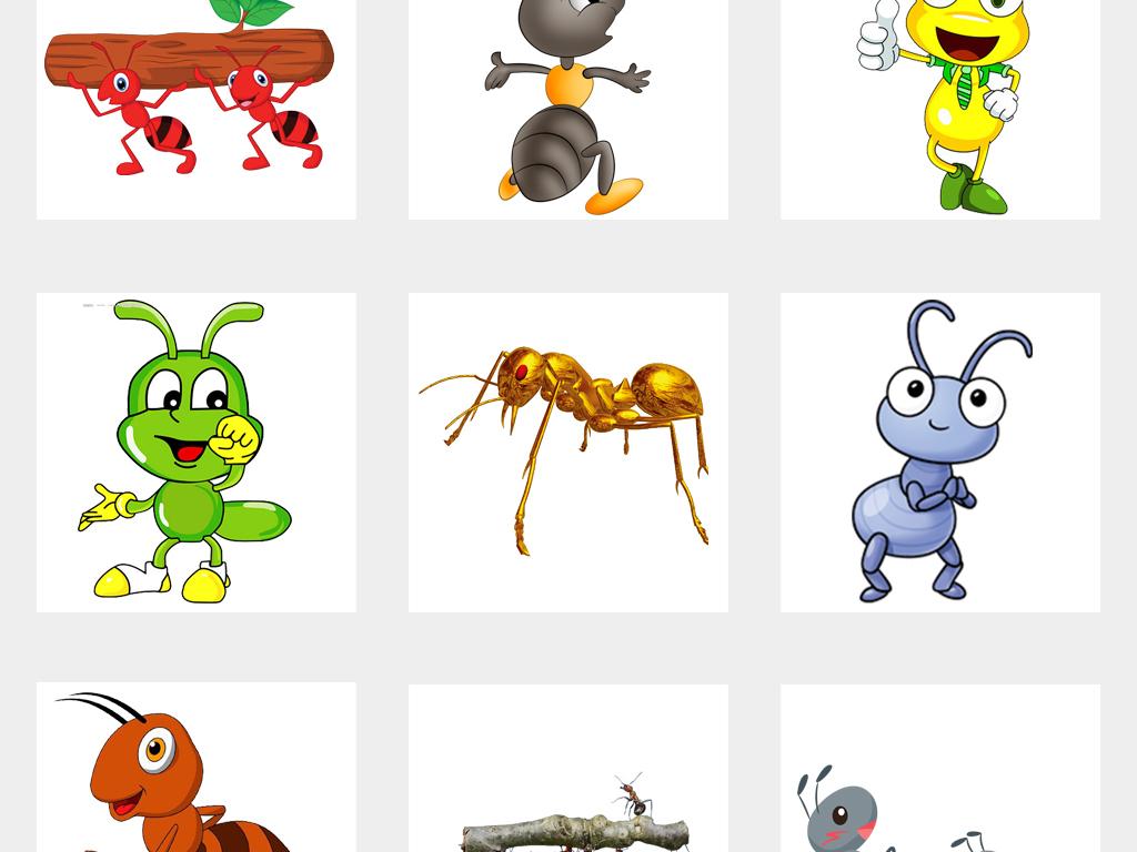 动物蚂蚁蜜蜂海报设计png素材卡通箱v动物图片