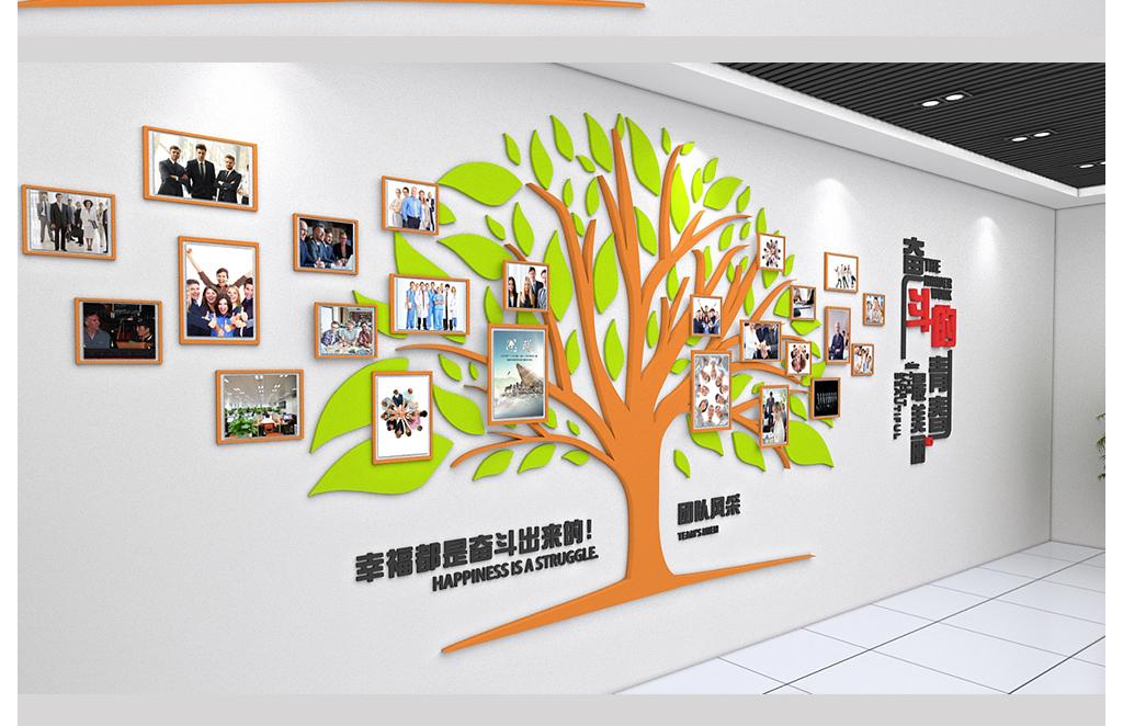 员工形象墙论+�_大型办公室形象墙员工照片墙模板