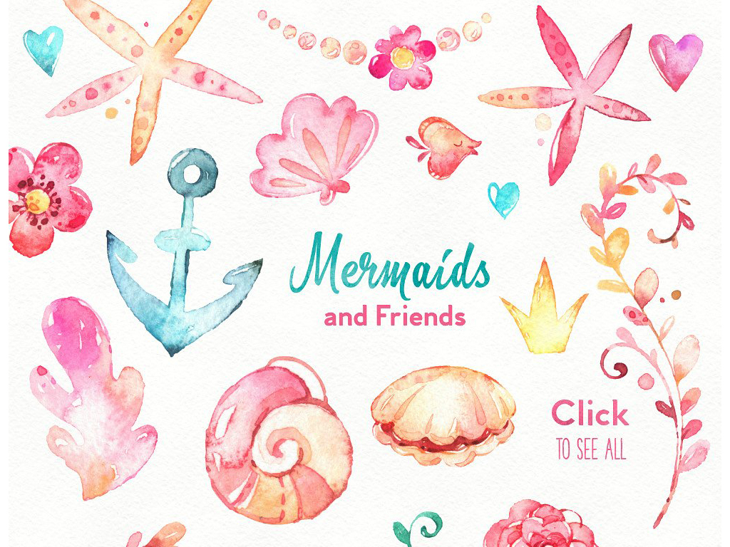贝壳海螺海洋生物海洋动物海星花环热带鱼海鱼海龟螃蟹海马乌贼卡通图片