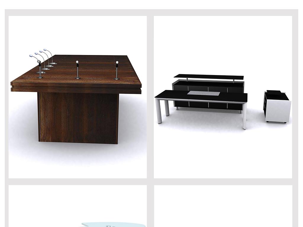 现代简约休闲电脑桌3d模型a6-8图片