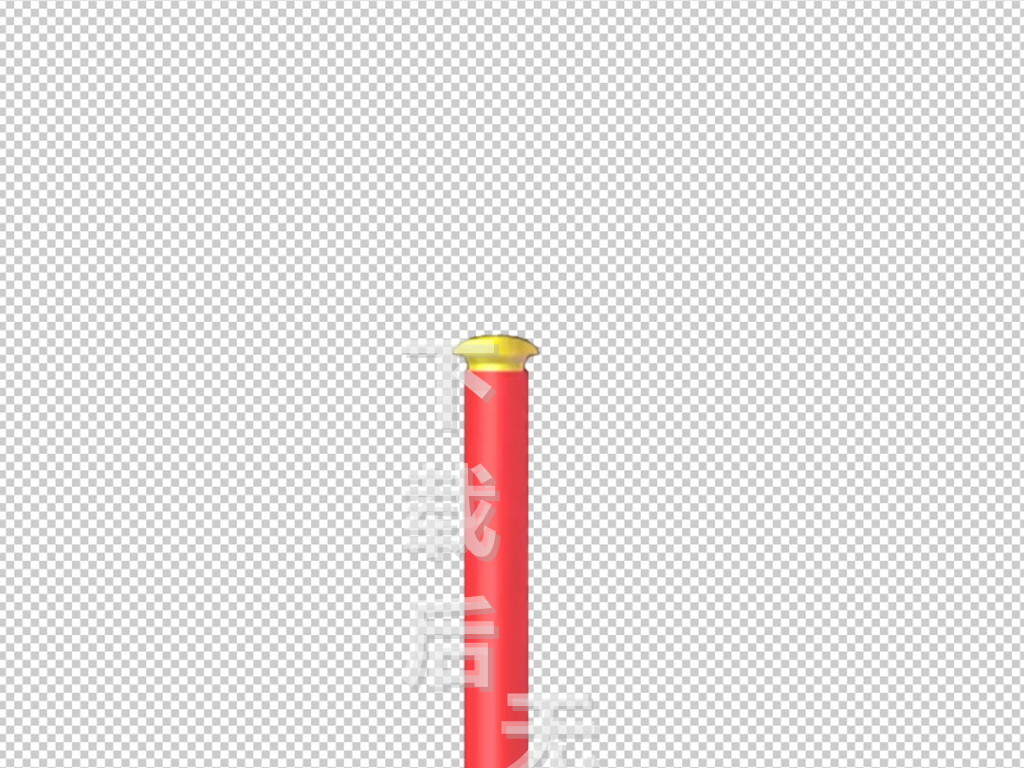 金色红色金箍棒卷轴木棍高清图片素材带通道