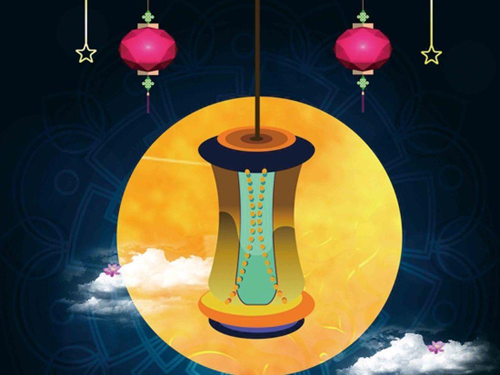 八月十五中秋节国际月饼嫦娥奔月中秋节海报展板ppt模板背景素材