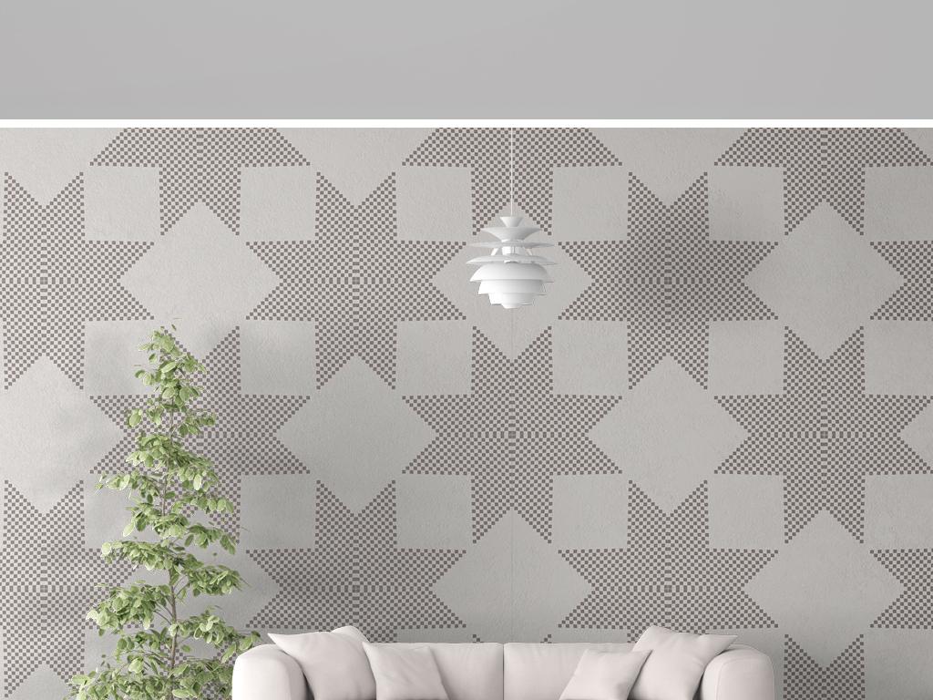背景墙 墙纸|壁纸 现代简约墙纸 > 几何简约矢量图案无缝墙纸  素材图片