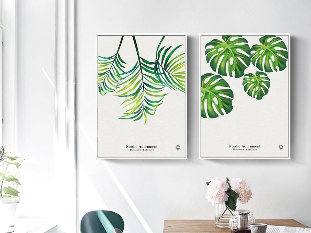 小清新ins风装饰画植物绿植装饰画挂画图片设计素材 高清模板下载 96.31MB 植物花卉无框画大全