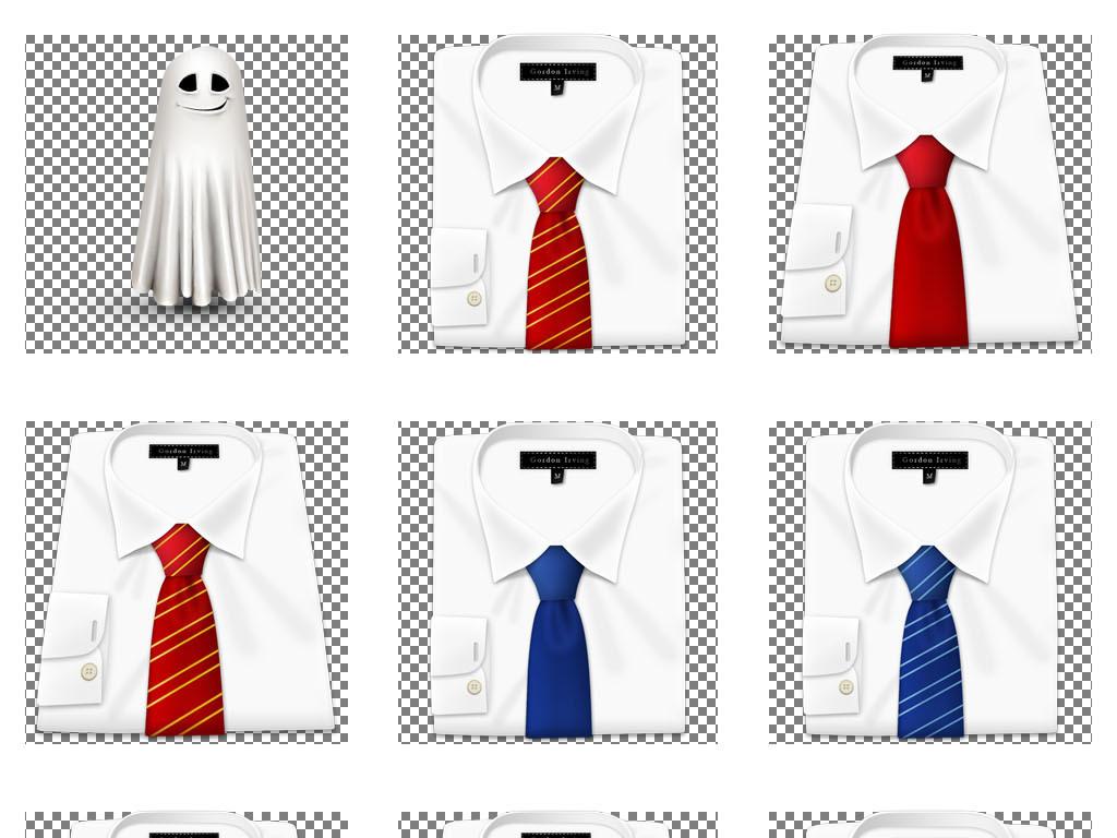 背景标ppt图标扁平化图标功能卡通质感图标白色衬衫男士领带男士领带
