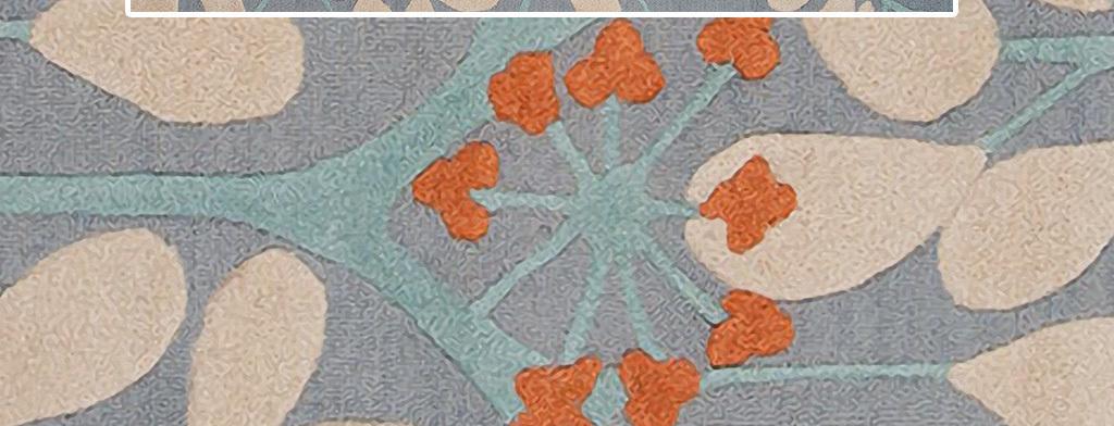手绘小清新树叶植物客厅卧室地毯