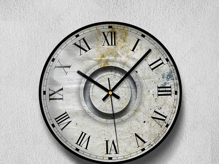 清新北欧美式极简挂钟钟面工艺钟表表盘