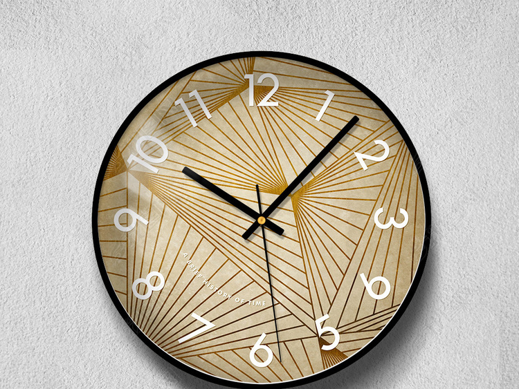 清新北欧ins极简挂钟钟面工艺钟表表盘