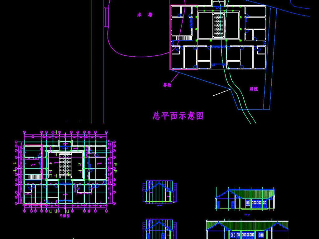 中式小区规划设计图纸