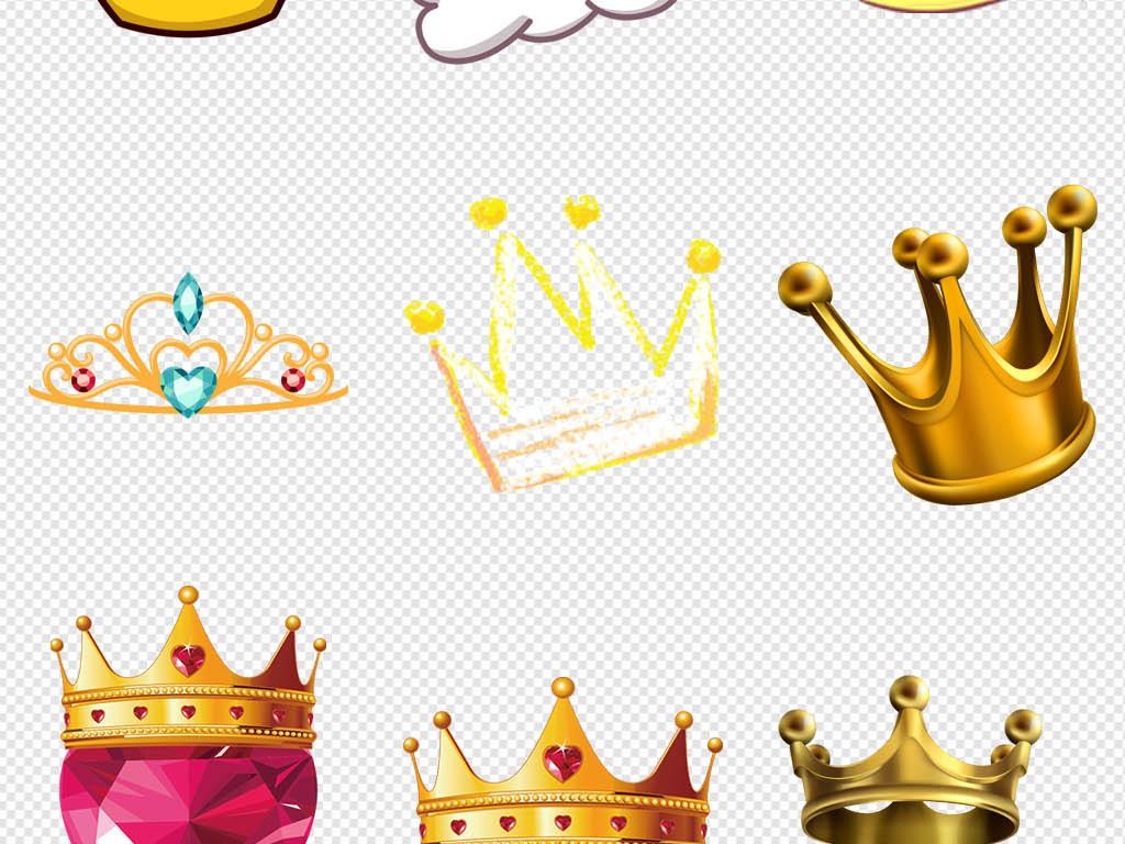 金色卡通女王公主大气皇冠王冠图片素材