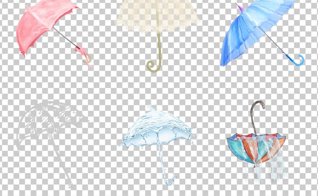 设计元素 其他 装饰图案 > 0448雨伞油纸伞卡通手绘小花伞花朵伞古典
