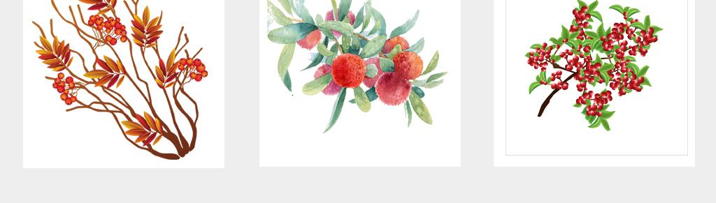 可爱卡通新鲜实物杨梅手绘杨梅水果海报png免扣素材