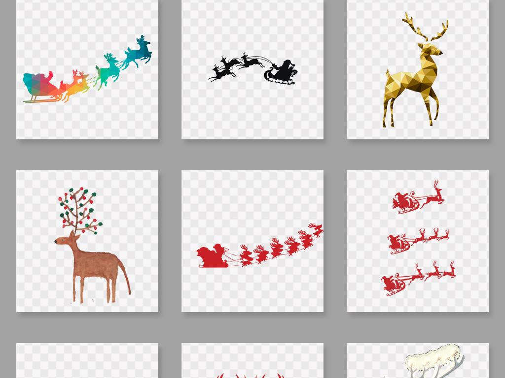 动物手绘卡通小鹿驯鹿鹿图片卡通鹿圣诞鹿鹿头卡通小鹿卡通驯鹿森林