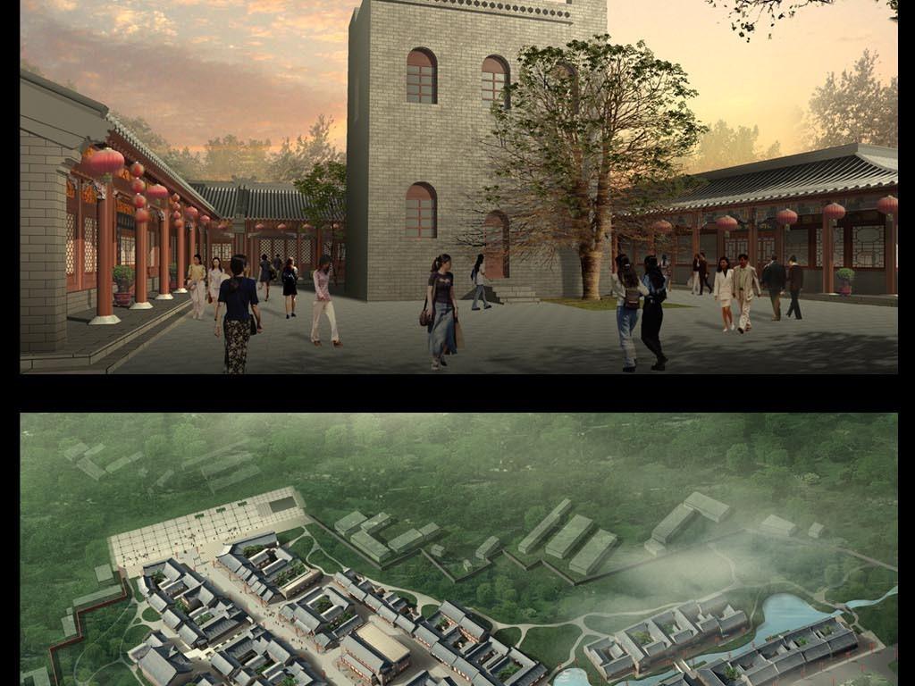 古街道建筑效果图图片素材_模板下载(94.67mb)_中国风