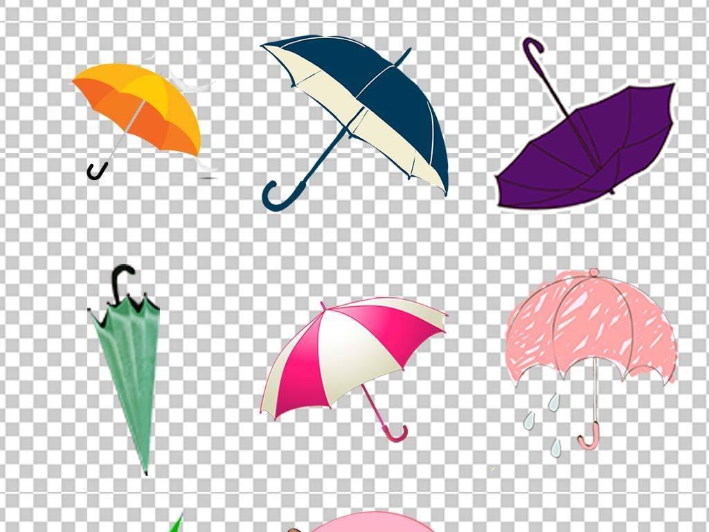 雨伞油纸伞卡通手绘小花伞花朵伞古典油纸伞素