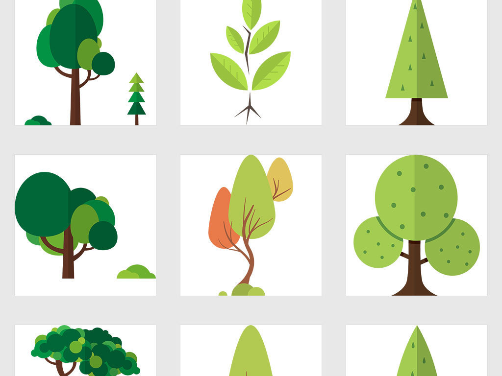 手绘树简约创意树儿童创意树知识创意树音符小树植物卡通树创意背景