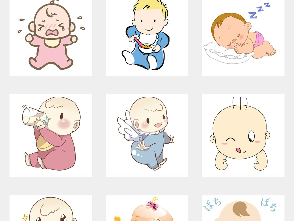 免抠元素 人物形象 动漫人物 > 母婴宝宝店卡通奶品促销海报背景素材