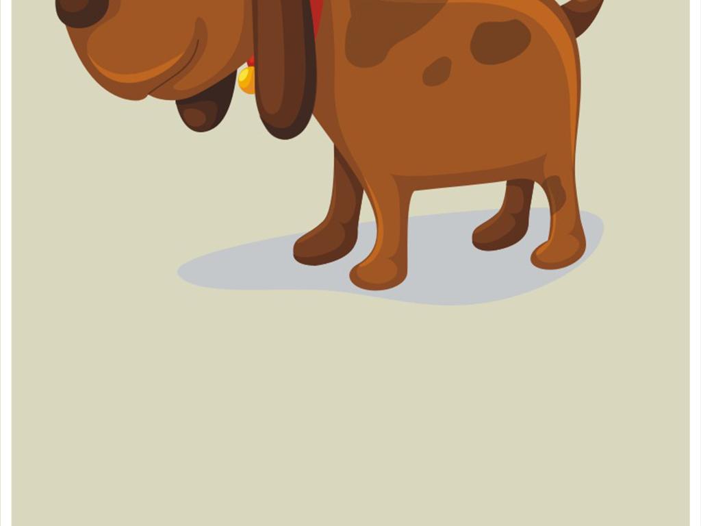 原创卡通动物小狗插画