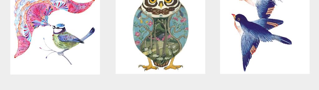 可爱卡通创意手绘啄木鸟水彩大嘴鸟水鸟孔雀爱情鸟png