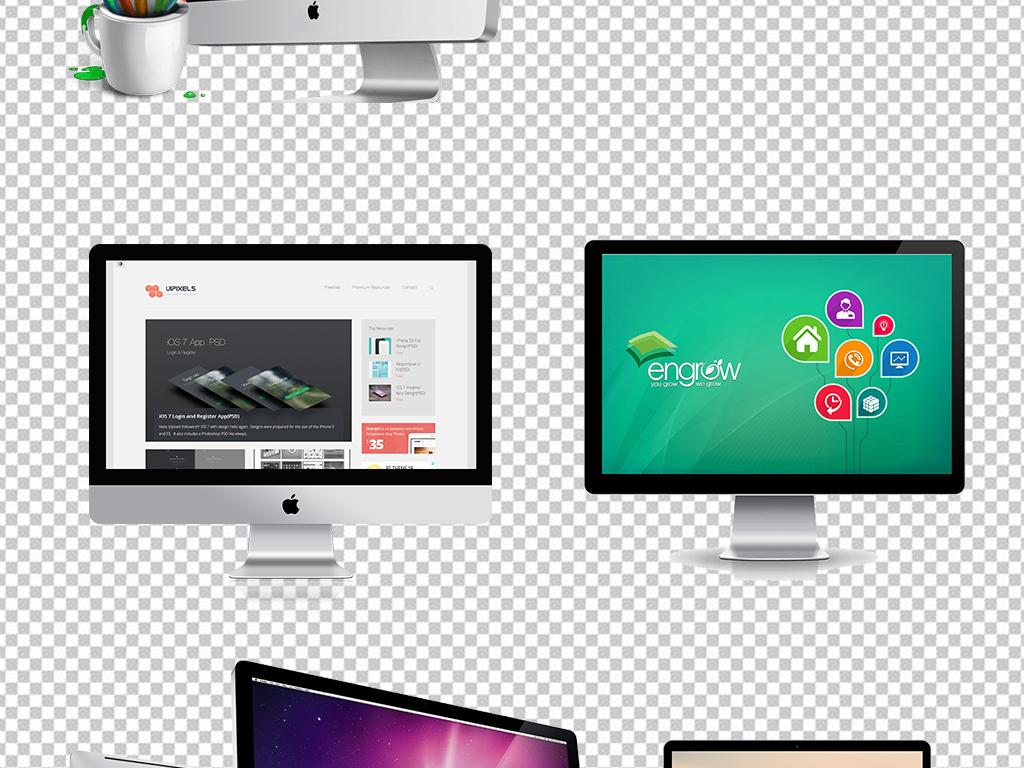 设计元素 背景素材 其他 > 电脑科技笔记本电脑png素材  素材图片参数图片