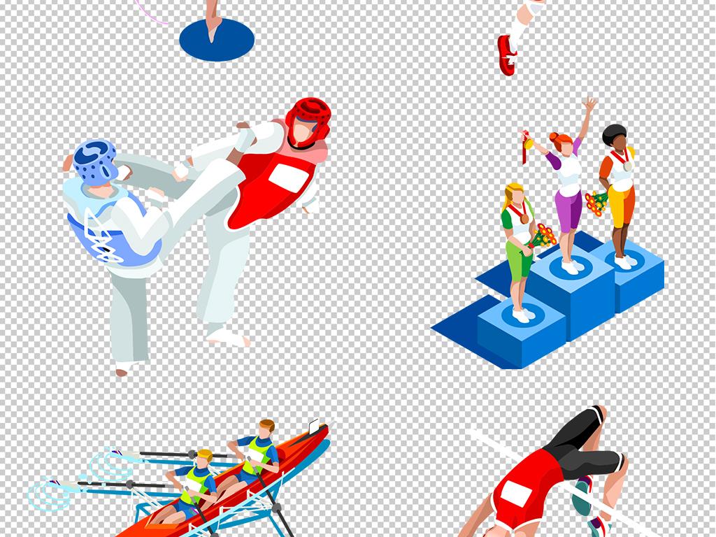 手绘人物冲刺人物人物剪影元素人物元素素材户外运动奥运会马术跳水