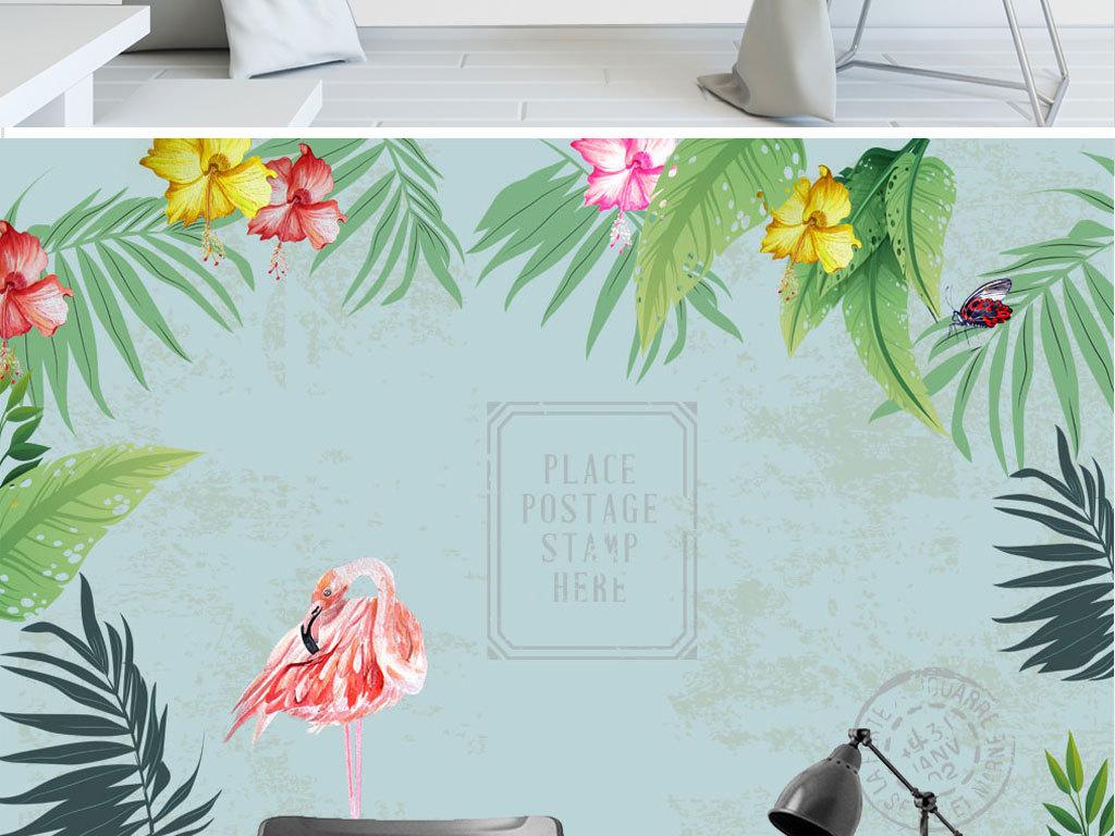 北欧小清新植物墙纸