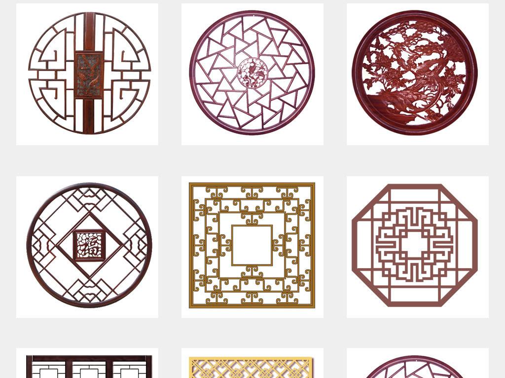 设计元素 花纹边框 卡通手绘边框 > 古代雕花窗户屏风中国风海报背景