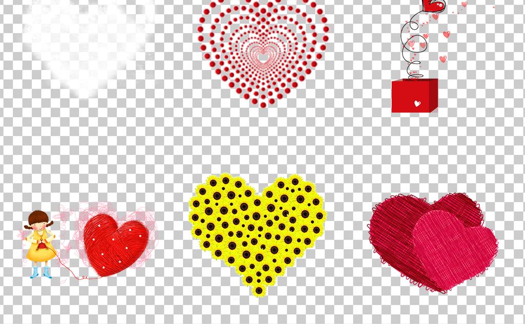 0456e爱心心型红色桃心手绘卡通气球爱心免抠素材