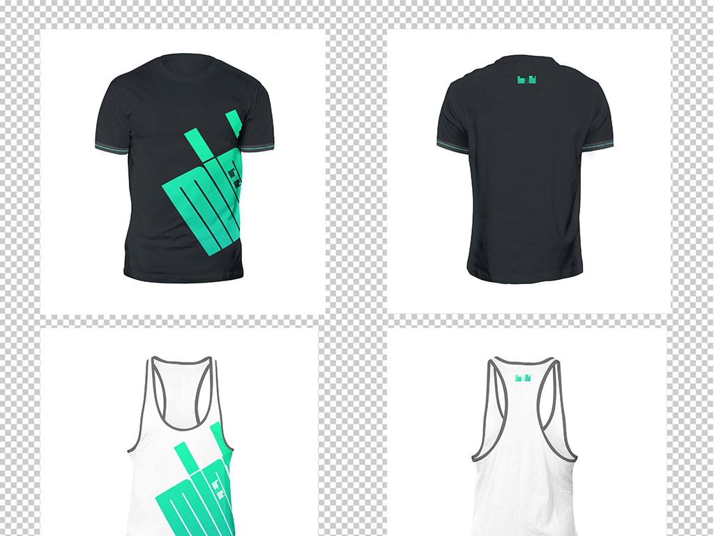 体育运动服篮球足球服装无袖背心t恤图样机图片