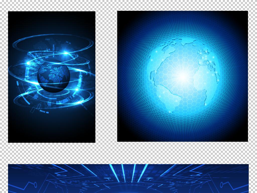矢量大数据蓝色科技网站广告背景