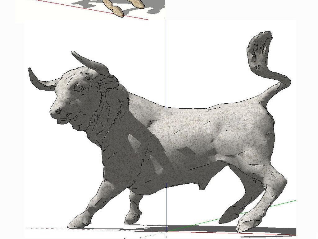 熊猫熊3d模型型糜鹿神鹿动物