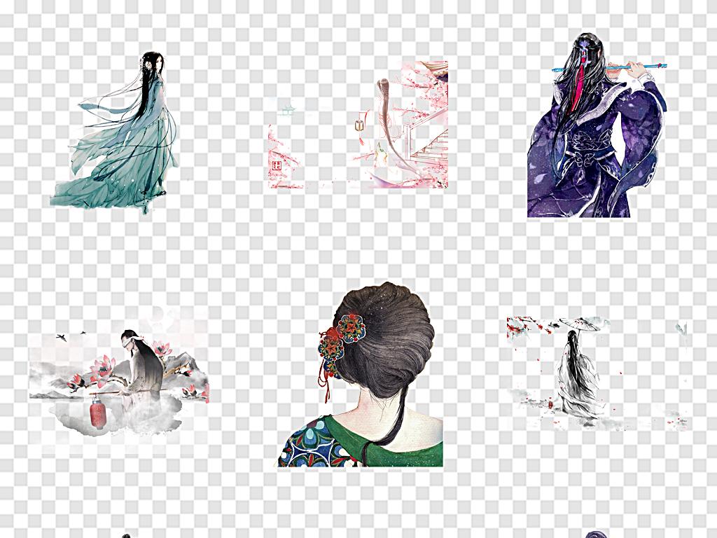 古风人物背影古代人物背影图片素材_模板下载(91.13mb