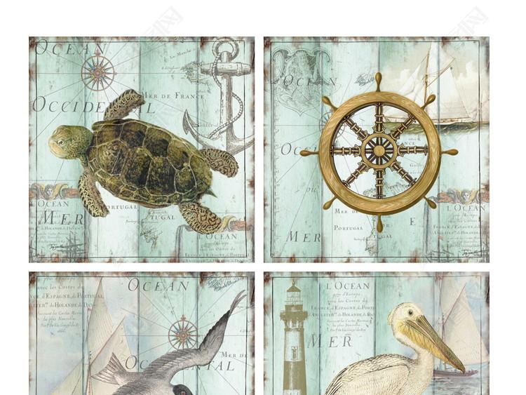 2020装饰画素材进口画芯美克美家海洋生物