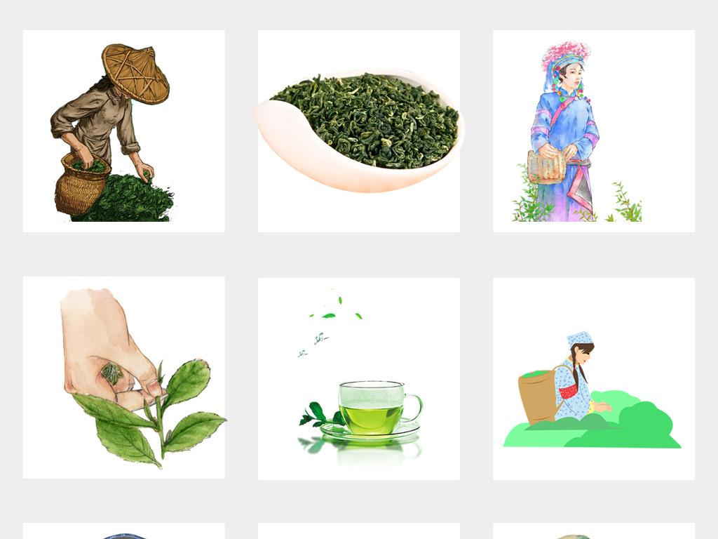 卡通手绘采茶人物采茶女png免抠素材图片_模板下载(53