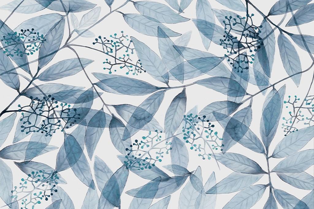 北欧现代树叶叶子花瓣壁画背景墙图片设计素材_高清(.图片