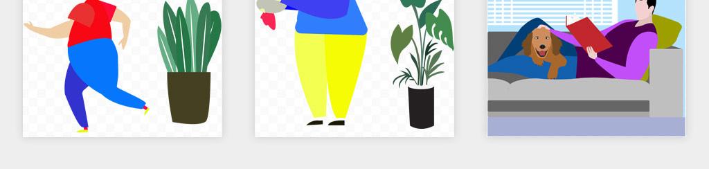 卡通手绘商务合作职场扁平风人物插画png免扣素材