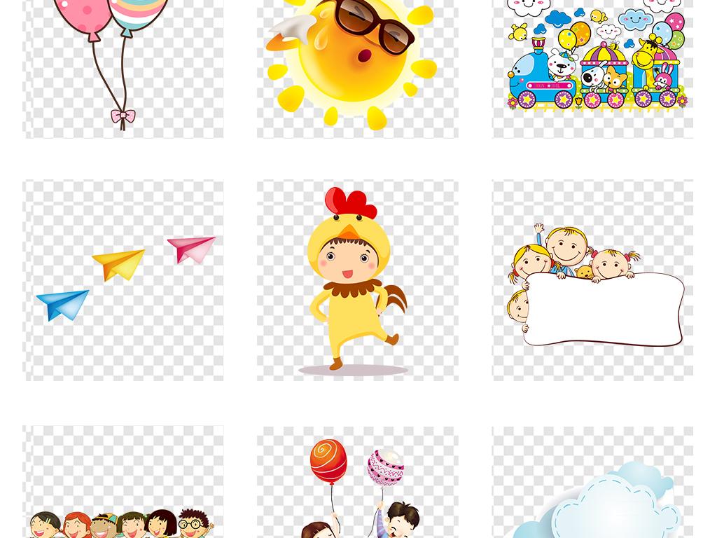 设计元素 花纹边框 卡通手绘边框 > 六一儿童节卡通小学生儿童幼儿
