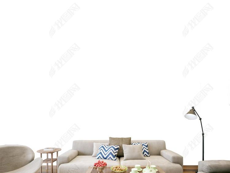 现代北欧风格墙纸背景墙场景样机PSD素材