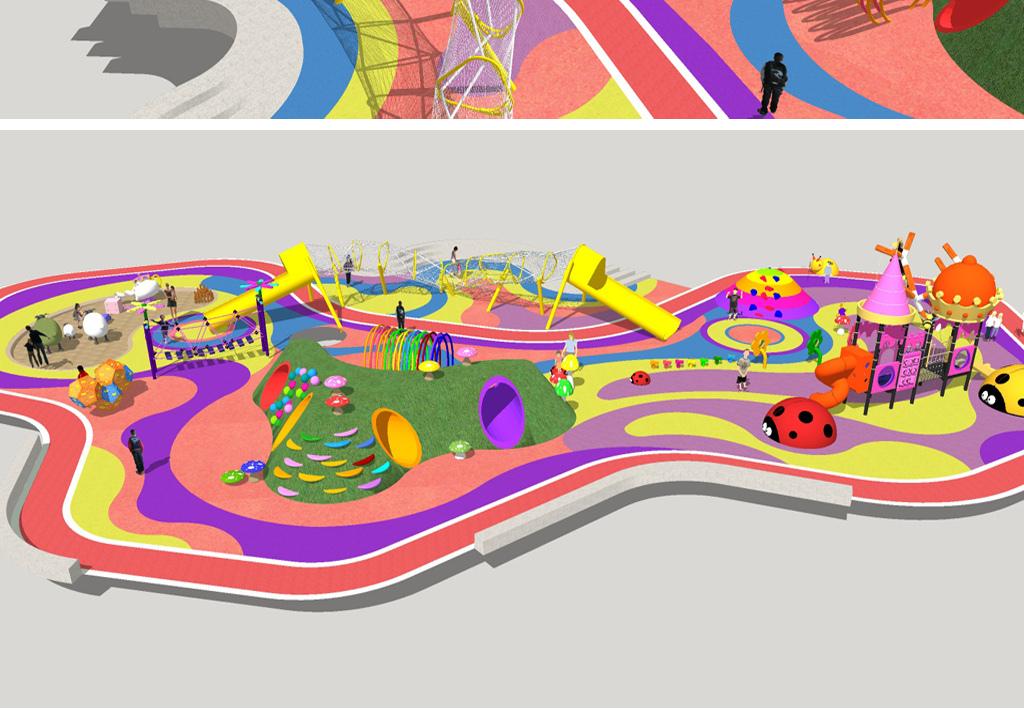 儿童游乐园场景su模型