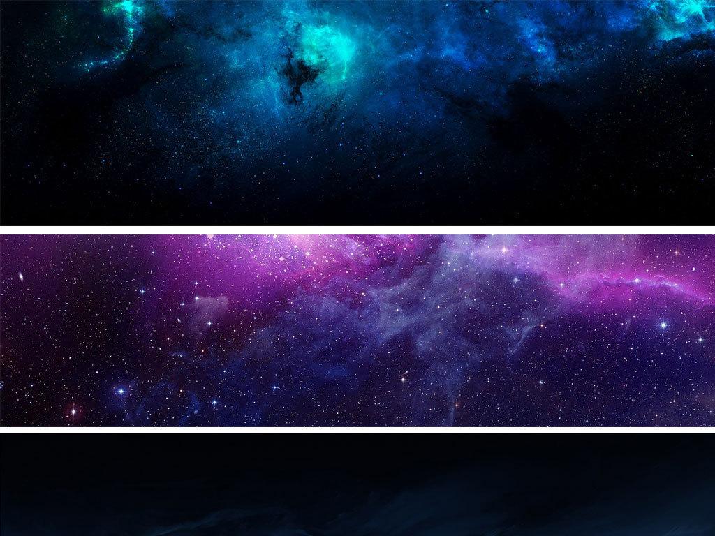 蓝色科技感地球星空高科技背景素材