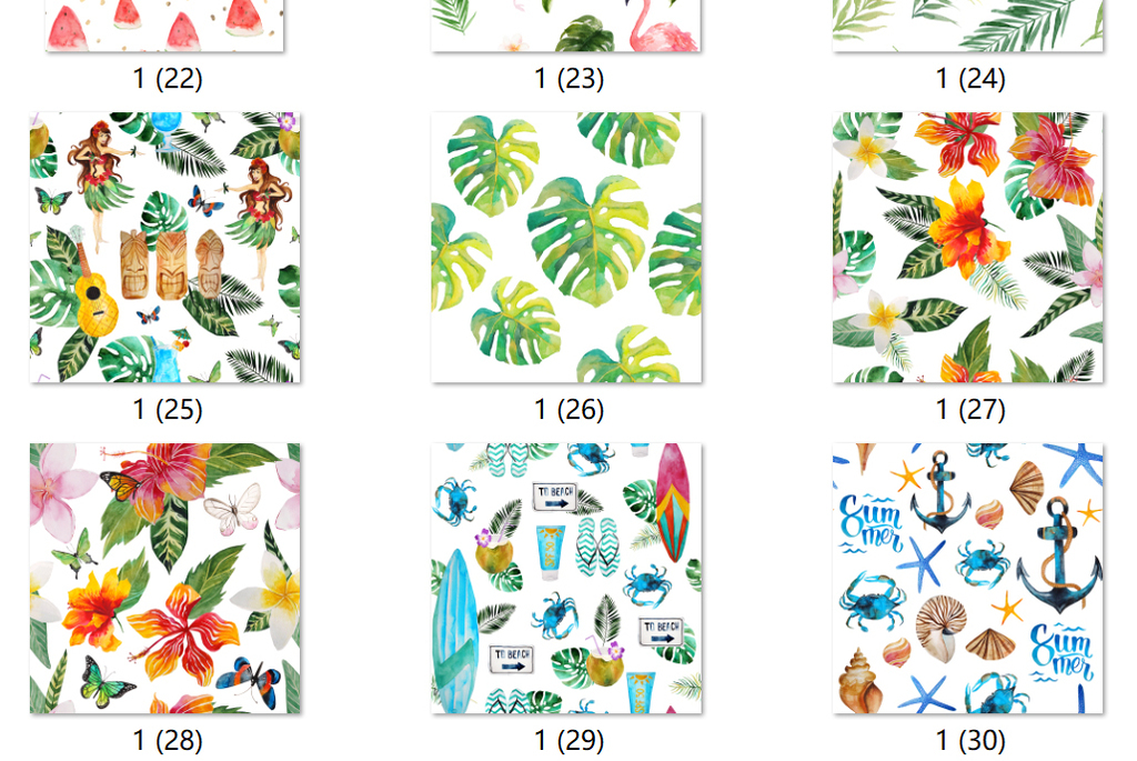 夏威夷海边超清背景叶子花卉植物手绘花卉水彩花卉水彩手绘背景手绘